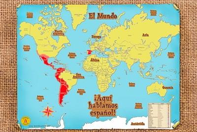 Aquí hablamos español! World Map