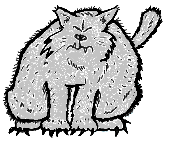 Fat Cat Gray Black Tracing for Small Pictures