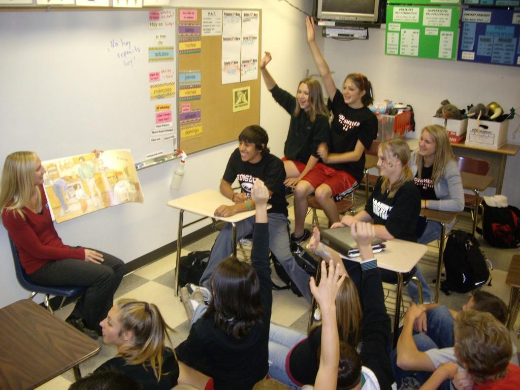 Kindergarten Reading with Big Book & Student Teacher