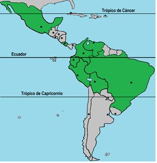 Paises Megadiversos Map