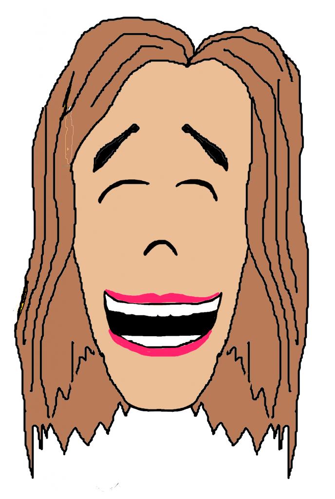 Smiling Girl Dark Hair